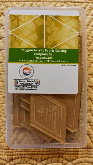 "Polygon Acrylic Template Set 1/4"" seam allowance"